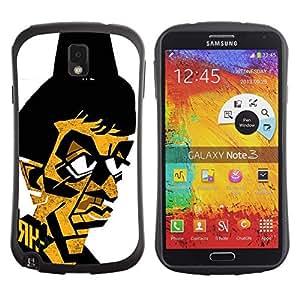 Suave TPU GEL Carcasa Funda Silicona Blando Estuche Caso de protección (para) Samsung Note 3 / CECELL Phone case / / Gangster Mafia Portrait Poster /