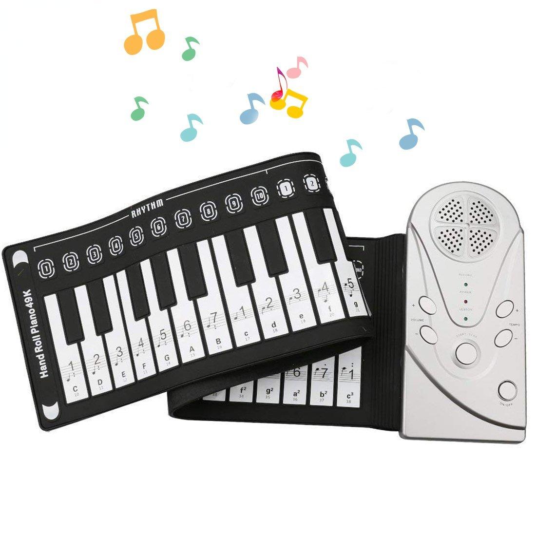 A-SZCXTOP 49 Taste des elektronischen Klavier/E-Piano Weich Notebook Tastatur zugeklappt/Rad für oben das Klavier