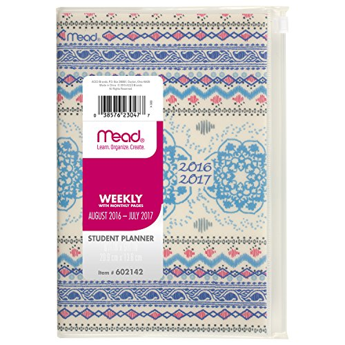 Mead Weekly / Monthly Student Planner / Appointment Book, Au