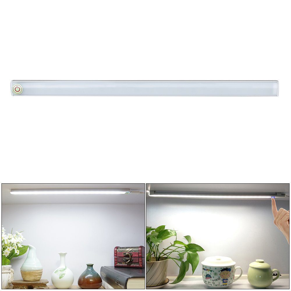 XCSOURCE Touch Key LED Light Tube Bar 30CM USB Powered Dimmable Lighting Lamp Cool White for Closet Cabinet LD1337