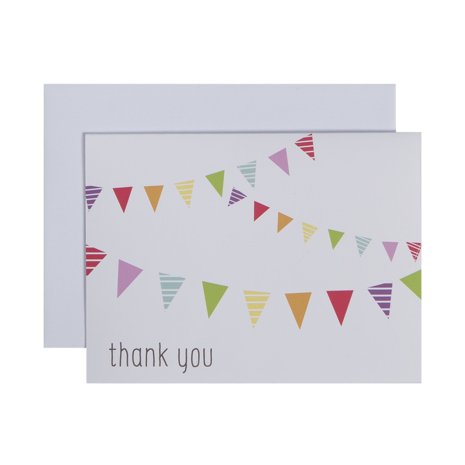 CRG C.R. Gibson Boxed Thank You Notes, Fun and Festive, 10 Count NTT-13918