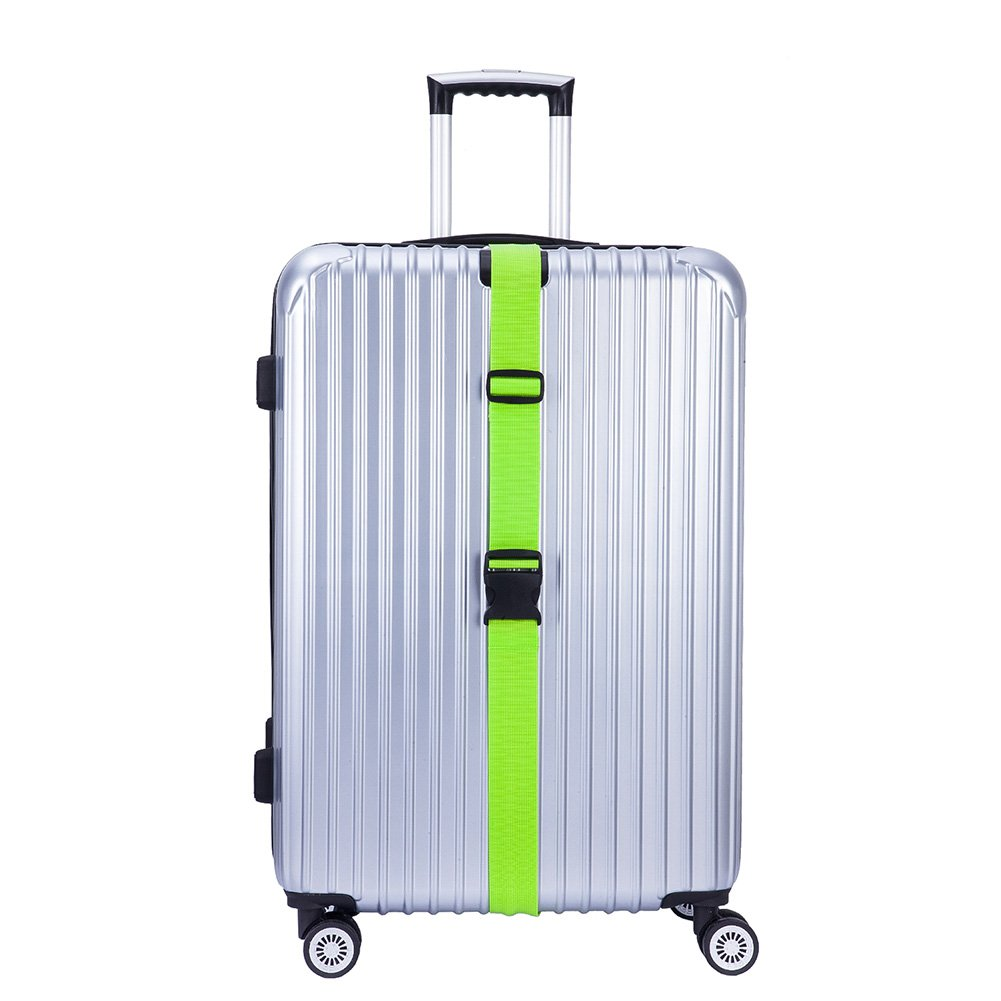 Hibate (2_Green) Luggage Straps Belts and (1_Green) Neoprene Suitcase Handle Wrap Grip Tags by Hibate (Image #5)