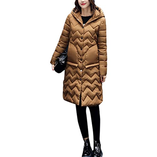 Zhhaijq Caliente para el invierno Fashion Winter New Cotton Ladies Korean Style Slim Long Thick Hood...