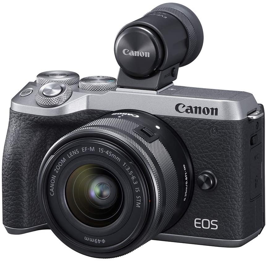 Canon EOS M6 Mark II Mirrorless Digital Compact Camera + EF-M 15-45mm F/3.5-6.3 IS STM + EVF Kit