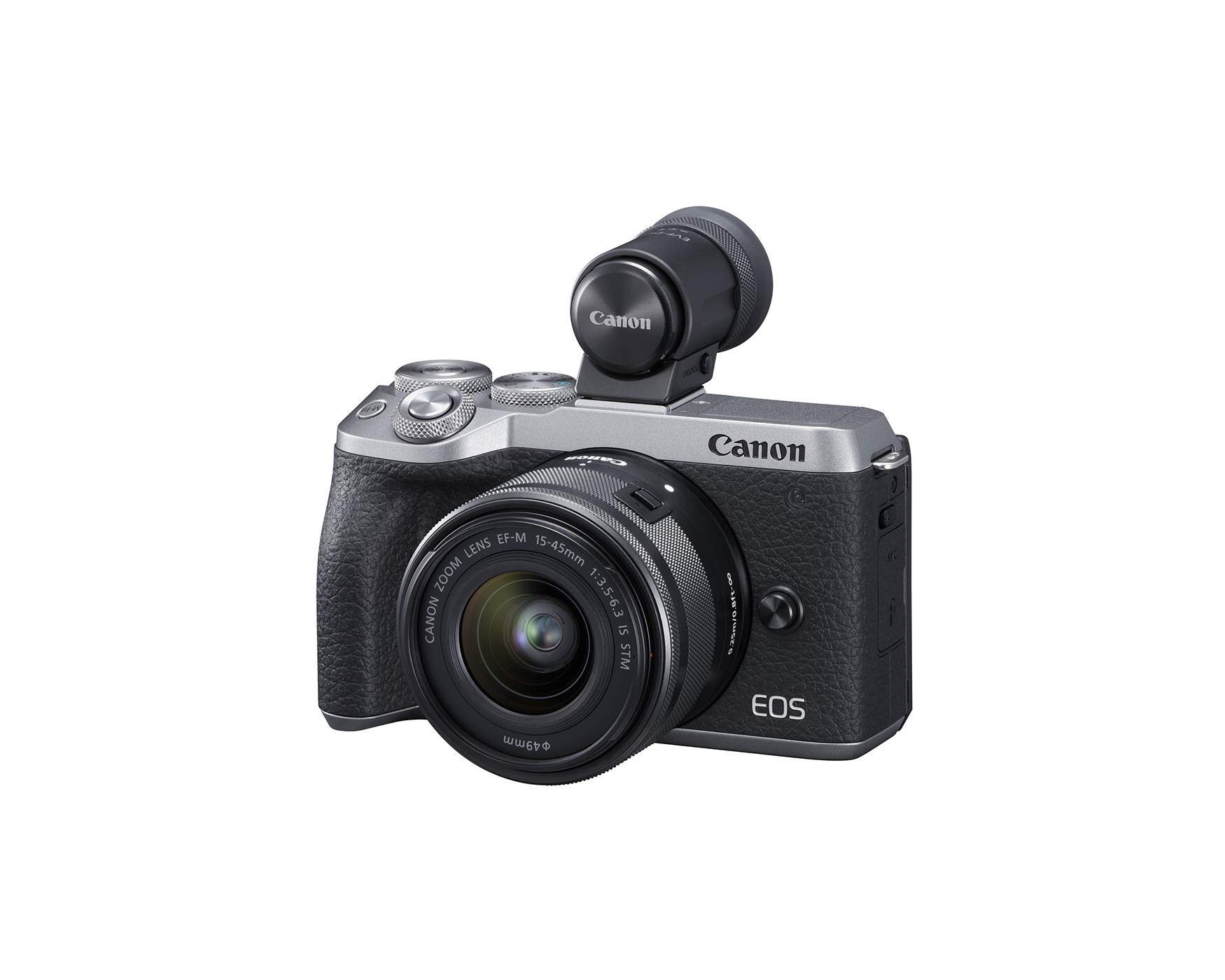 Canon USA EOS M6 Mark II Mirrorless Camera, (Silver)+Ef-M 15-45mm F/3.5-6.3 is STM + Evf Kit by Canon