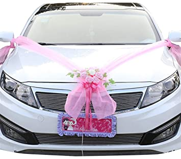 Amazon Com Icegrey Artificial Flowers Bouquet Wedding Car
