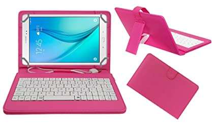 Acm USB Keyboard Case Compatible with Samsung Galaxy Tab A T355 Tablet Cover Stand nbsp;Study Gaming Direct Plug  amp; Play   Pink