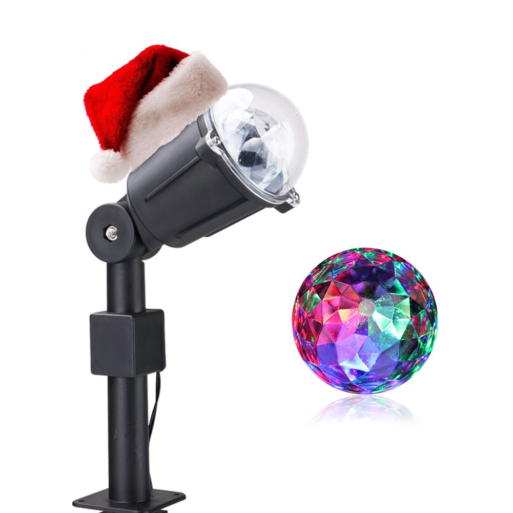 BRIGHT ZEAL Rotating LED Dj Party Lights Disco Ball Lamps - Multicolor Karaoke Dance Lights 4 Room - Stage Lights Effect Strobe Lights 4 Parties Outdoor - Kaleidoscope Light Projector Indoor Lightshow