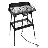 Grill XL schwarz Grill günstig kaufen Garten Balkon Camping ✔ eckig ✔ stehend grillen ✔ Grillen mit Elektrogrill