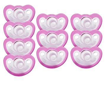 Amazon.com: jollypop Chupete 10 Pack Sin Perfume, Rosado: Baby