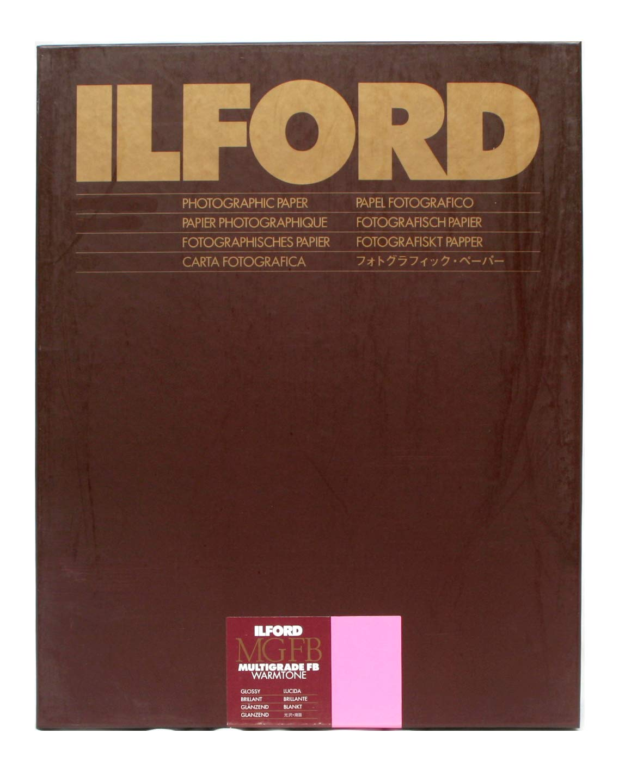 Ilford Multigrade FB Fiber Based Warmtone VC Variable Contrast Black & White Enlarging Paper - 8x10'' - 100 Sheets - Glossy Surface