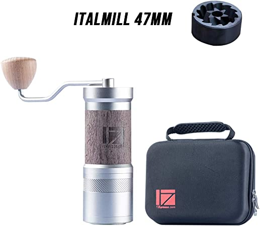 1zpresso Manual Coffee Grinder Je Plus Series Light Gray Dlc Coating Burr Fine Upper Adjustment Nut