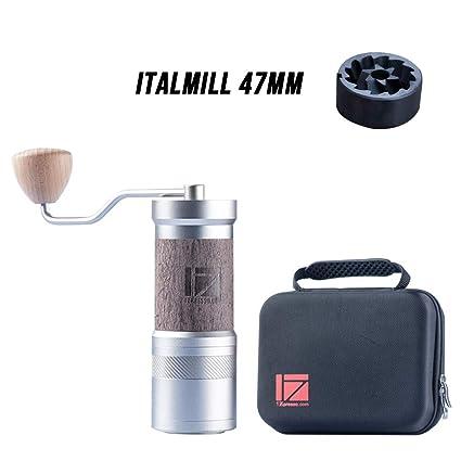 1zpresso Manual Coffee Grinder Je Plus Series Light Gray Dlc Coating Burr Fine Upper Adjustment Nut