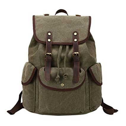0a7f891786f6 Amazon.com: Zhuhaitf Casual Canvas Backpack Waterproof Retro Travel ...