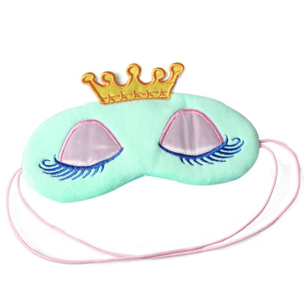 SA Crown Augenmaske Beschattung Rest Eyepatch mit verbundenen Augen Schild Reisen Schlaf-Beihilfen (Blau) Saijcosa