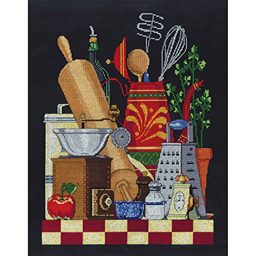 Janlynn 17-0105 14 Count Kitchen Still Life Cross Stitch Kit, 11 by 14-Inch from Janlynn