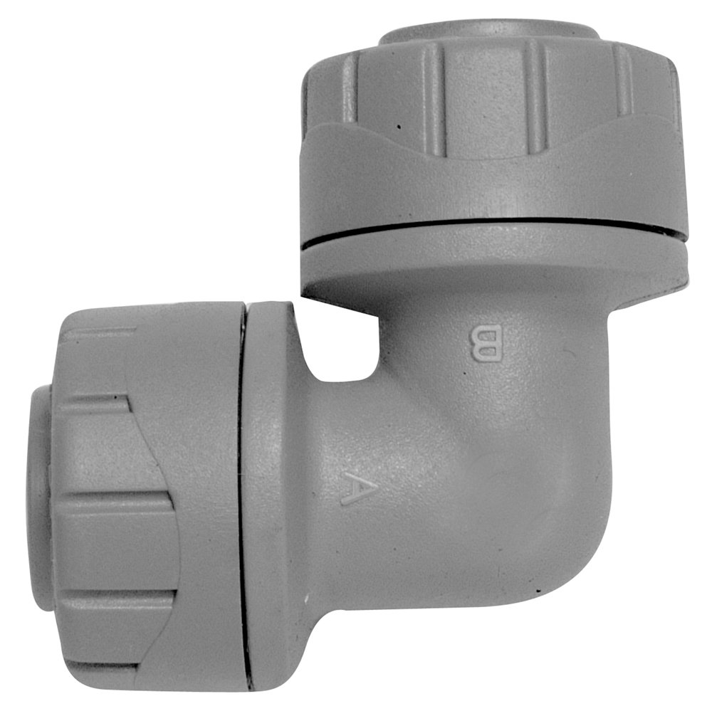 Polyplumb Push Fit Elbow 15mm - Grey (Pack of 5) Polypipe PB115-5AMZ