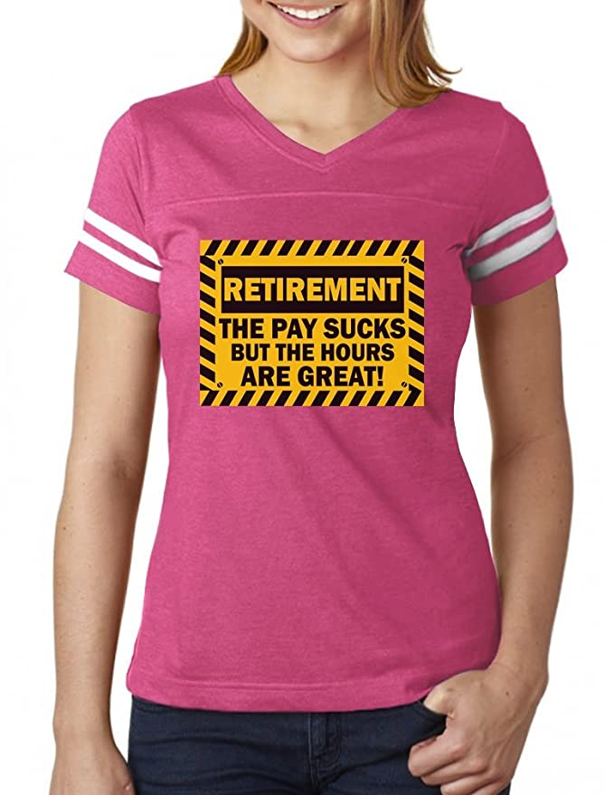 Amazon.com  TeeStars - Funny Retirement Gift Idea - Retired Women Football  Jersey T-Shirt  Clothing 5bd7f7ccc