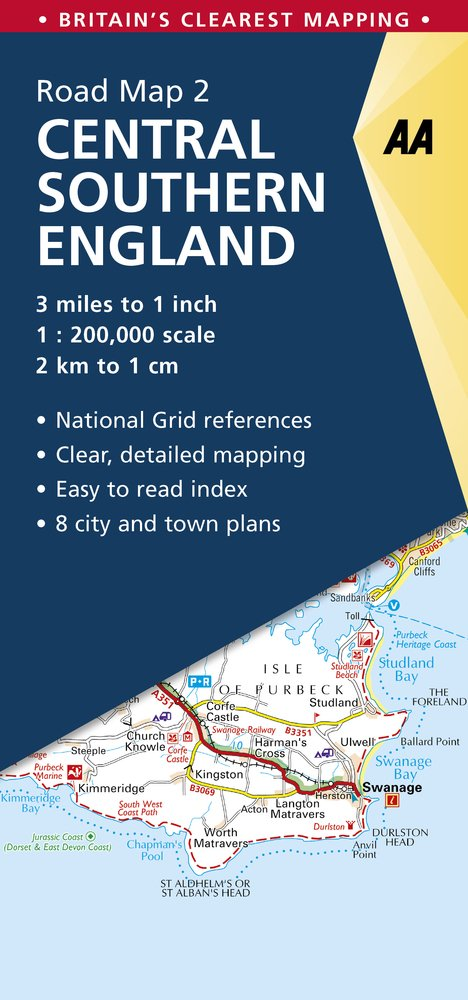 Download Central Southern England Road Map: Central Southern England 2. (AA Road Map Britain) pdf epub