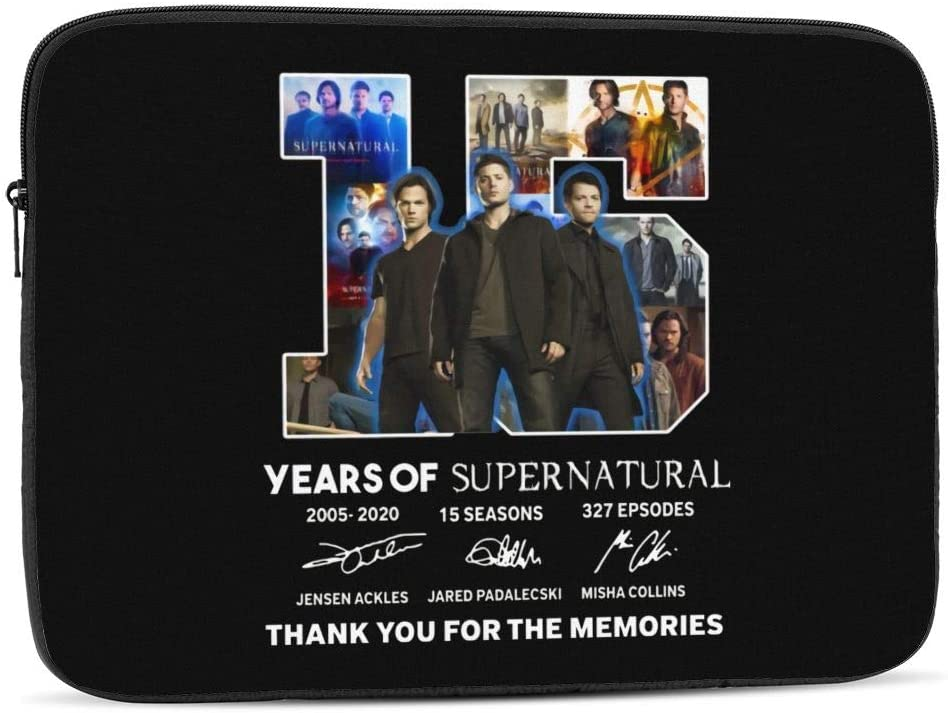 15 Years of Supernatural Tv Show for Men Idea for Fan Love Supernatural Laptop Sleeve Case for Apple 10-17 Inch New MacBook