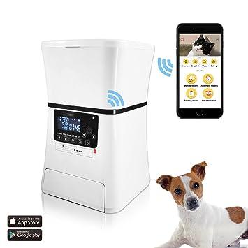 Alimentador Automático De Mascotas, Dispensador De Alimentos Programable Inteligente Para Perros Y Gatos. Webcam