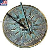 ANTIQUECOLLECTION Brass Sunrise/Sunset Sundial Gift
