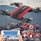JXD 523 Tracker Foldable selfie Drone with HD Camera, WIFI, Quadcopter with Altitude Hold (Red Color)
