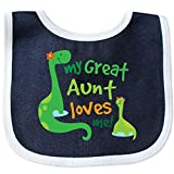 Inktastic - My Great Aunt Loves Me Baby Bib Navy/White