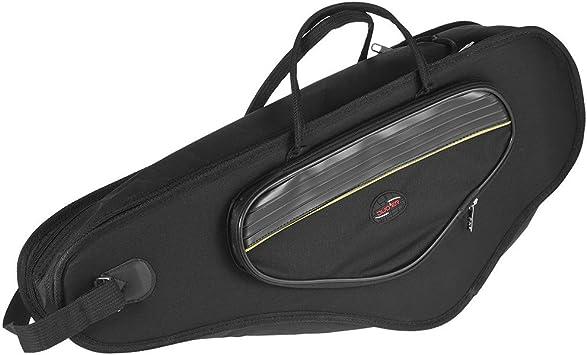 ammoon - Funda de transporte para saxofón alto resistente al agua y hecha con tela Oxford de 600D. Con correas al hombro ajustables, bolsillo, y acolchado de algodón de 5 mm de