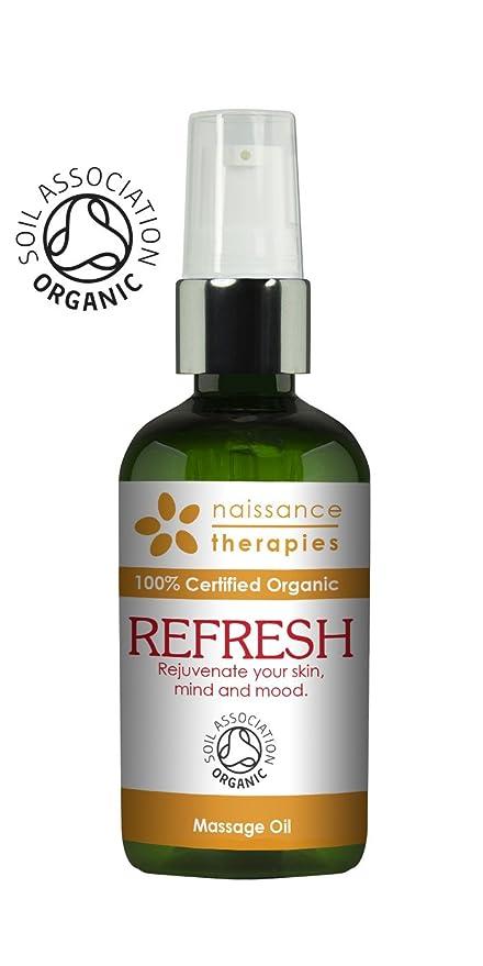 Naissance Refrescante - Aceite de Masaje BIO 100ml - Certificado Ecológico - con aceite de argán