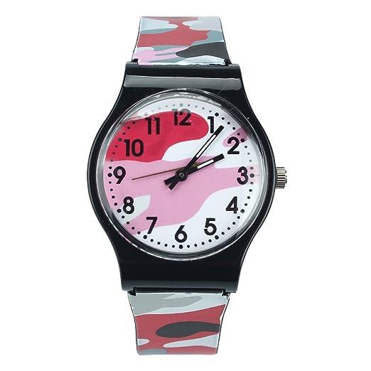 MA87 - Reloj Digital de Pulsera para niños y niñas, Color Morado (Rojo)