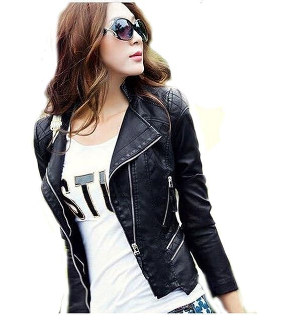 342022743 HugMe.fashion New Slim Women s Genuine Leather Jacket LJK24 (M ...