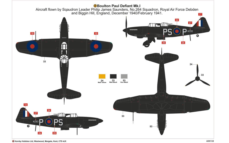 Airfix Boulton Paul Defiant NF.1 Hornby A05132