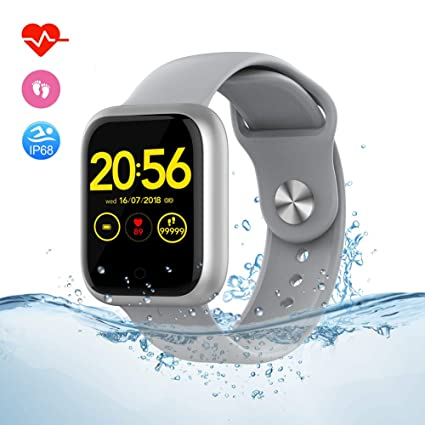 Fitness Tracker Smart Watch for Android Phones and I-Phone, Step Activity Tracker Smartwatch with Sleep & Heart Rate Monitor, IP68 Waterproof ...