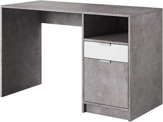 E-com - Mesa de Escritorio LYN - 120 cm - Hormigon: Amazon.es: Hogar