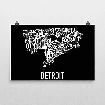 Amazon.com: Detroit Typography Neighborhood Map Art City ... on detroit development, detroit seafood market, detroit construction, detroit hood, detroit at night, detroit fist, detroit parks, detroit michigan neighborhoods, detroit ghetto people, detroit neighborhoods in the sixties, detroit neighborhoods to avoid, detroit city limits, baltimore ghetto map, detroit wasteland, detroit 1970s, detroit international riverfront, detroit cass technical high school, detroit potholes, detroit crime stats,