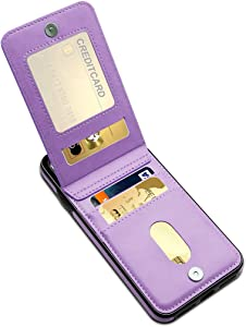 LakiBeibi for iPhone Xs Max Case, Premium Leather Anti-Scratch iPhone Xs Max Wallet Case with Credit Card Slots Folio Flip Shockproof Protective Cover for iPhone Xs Max 6.5 Inch (2018) - Purple