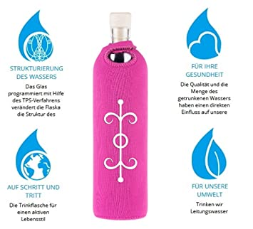 flaska Botella Attraction Symbols Amor - Botella de agua botella de cristal + 2 corcho: Amazon.es: Deportes y aire libre