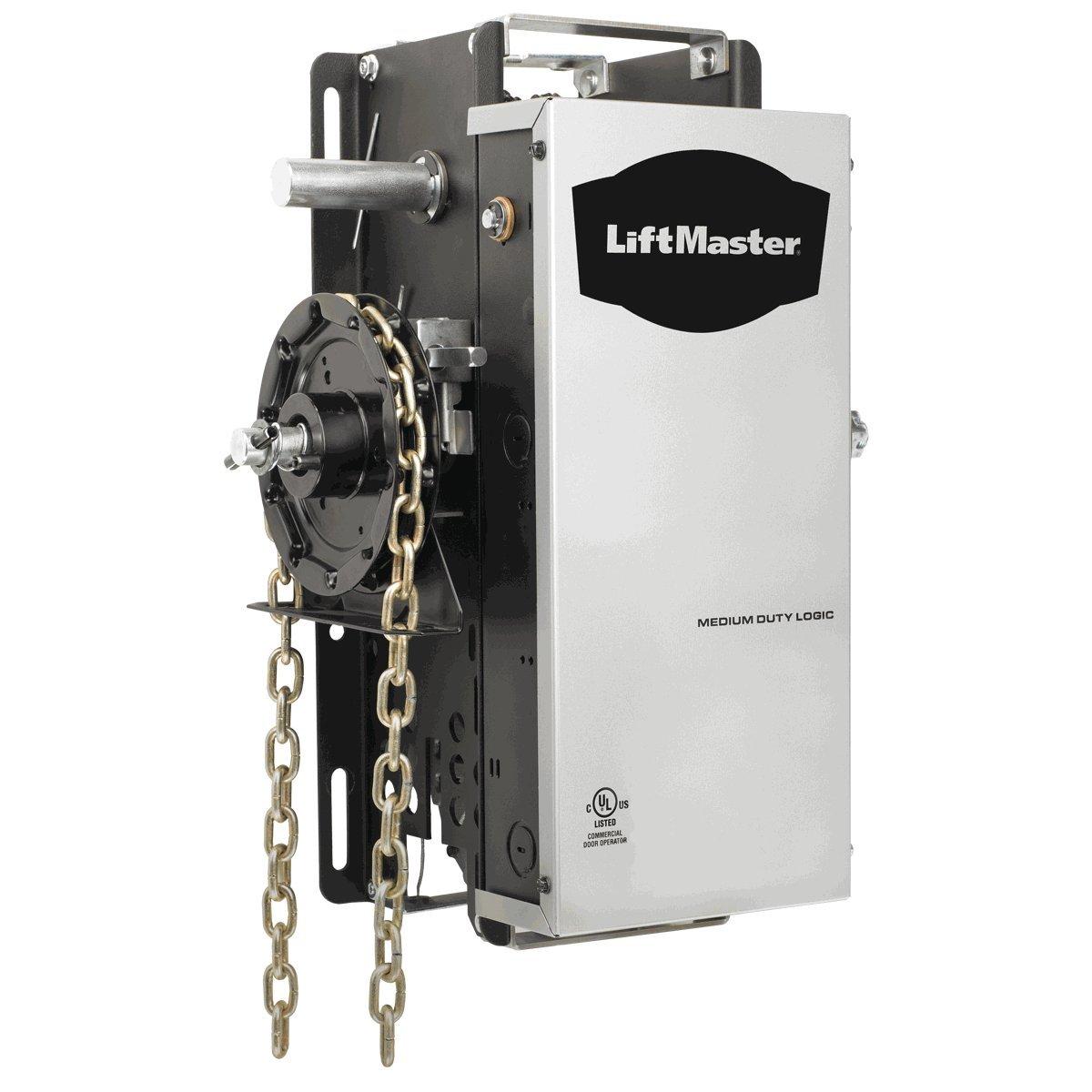 Liftmaster Mh 5011u Commercial Garage Door Opener Medium-duty Hoist Operator w/ Safety Beams