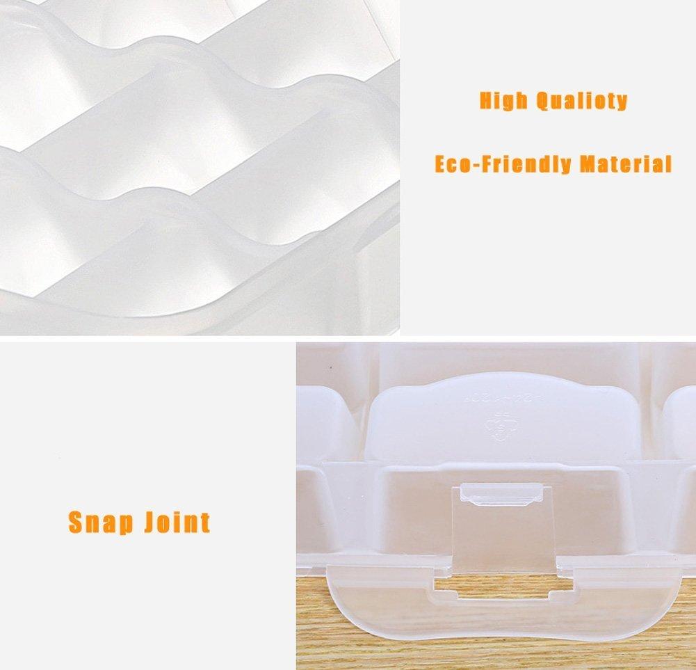 Microonde Scongelamento Ravioli contenitore per alimenti jecxep giapponese Sushi Contenitore con coperchio manico Freezer per Alimenti Bianco