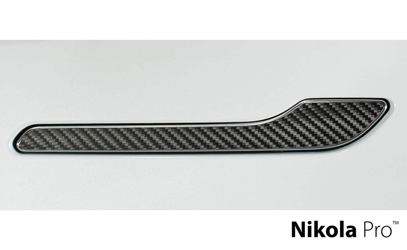Nikola Pro Tesla Model 3 Door Handle Wrap Kit (Black Carbon Fiber) by Nikola Pro (Image #1)