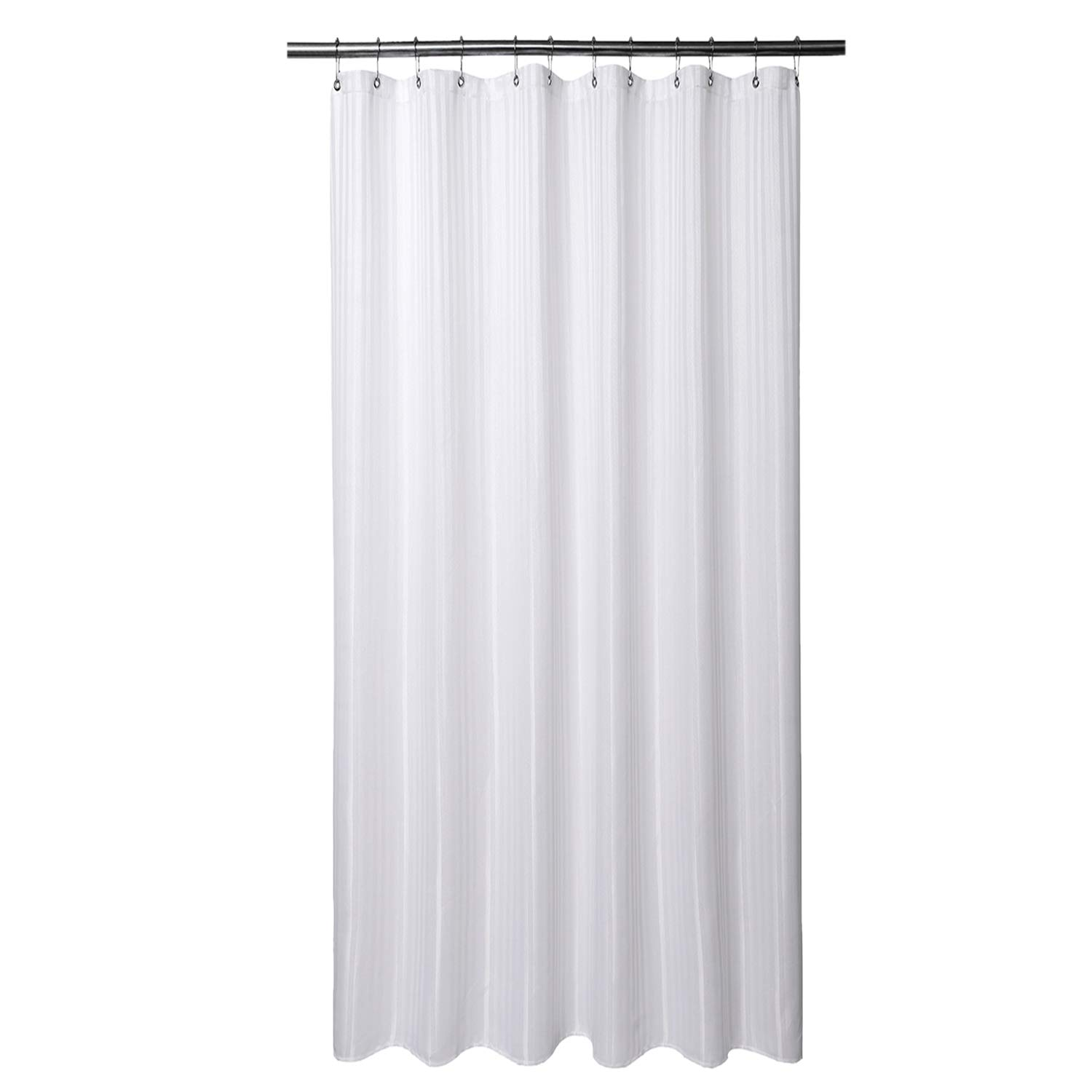 Barossa Design Extra Long Fabric Shower Curtain With 96 Inch Height