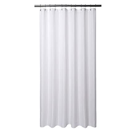 Amazoncom Barossa Design Extra Long Fabric Shower Curtain With 96