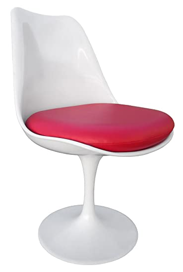 Premium Replacement Cushion For Saarinen Tulip Side Chair   Red Vinyl