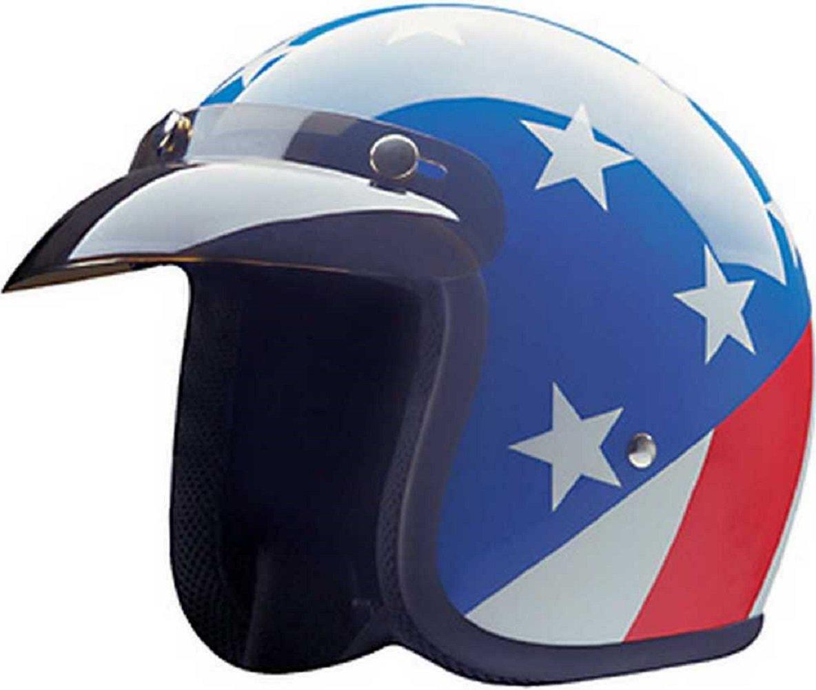 HCI Captain America Open Face Helmet w/Visor USA America Pride 10-014 (2XL) by HCI