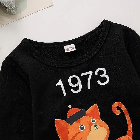Sudadera para niños Crew Neck con diseño de gato, modelo de bebé ...