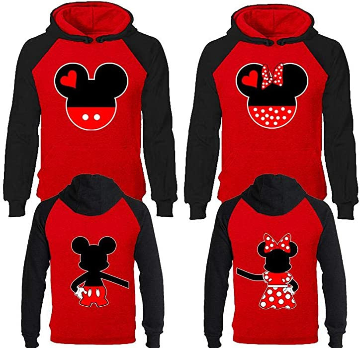 743483eecc5 Amazon.com  Mickey   Minnie Disney Couple Hoodies
