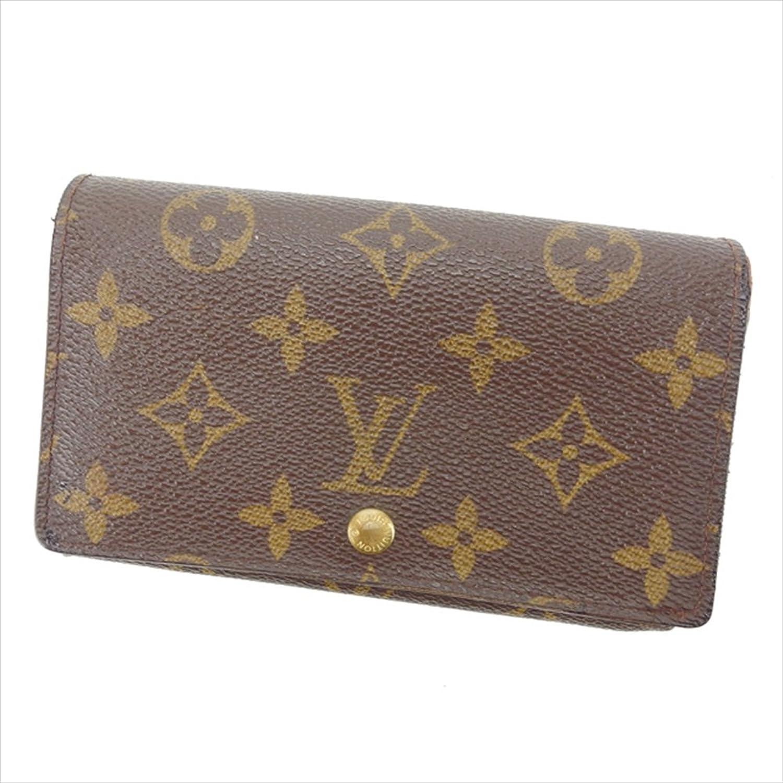 [ルイヴィトン] Louis Vuitton L字ファスナー財布 二つ折り 男女兼用 ポルトモネビエトレゾール M61730 モノグラム 中古 Y4347 B0772RTF1D