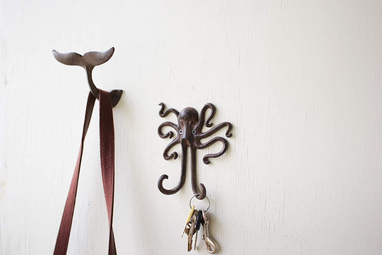 Kalaou Cast Iron Wall- Coat Hook- Octopus- 5.5