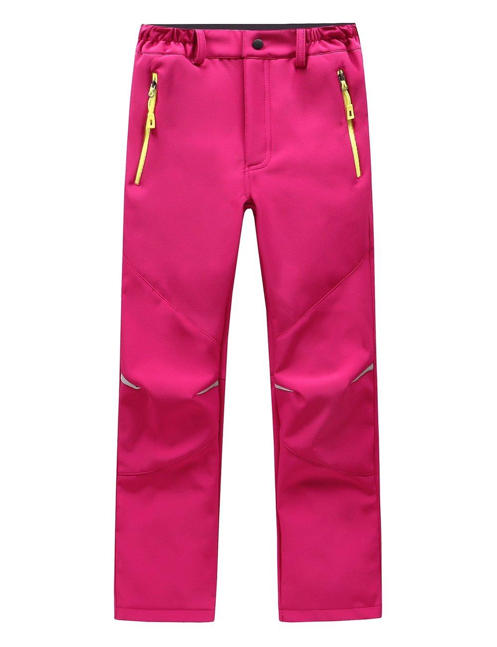 SANKE Kids Boys Girls Waterproof Outdoor Hiking Ski Pants Warm Fleece Lined
